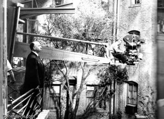 Кинозал: окно во двор, хичкок, съемки фильма