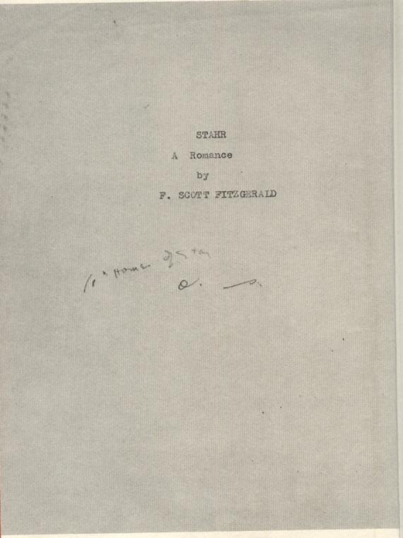 Кинозал: рукописи романа фицжеральда, последний магнат