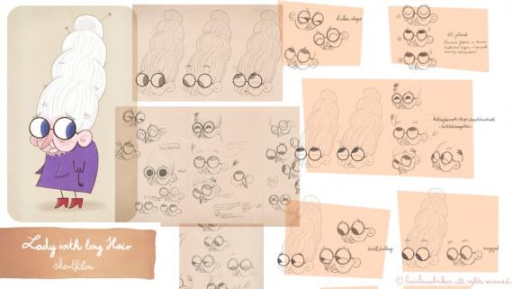 Анимация: дама с длинными волосами, режиссер Барбара Бэйкос, разработка персонажа