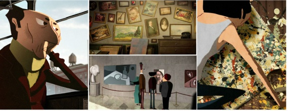 Анимация: Кинозал: dripped, leo verrier, пожиратель картин